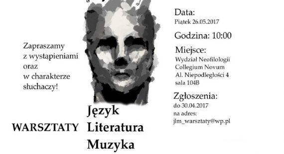 Warsztaty: Język – Literatura – Muzyka – Zaproszenie