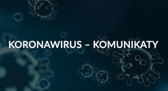 Koronawirus – komunikaty