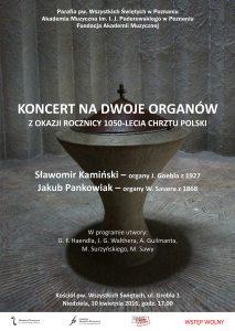 10.04.2016 koncert na dwoje organów