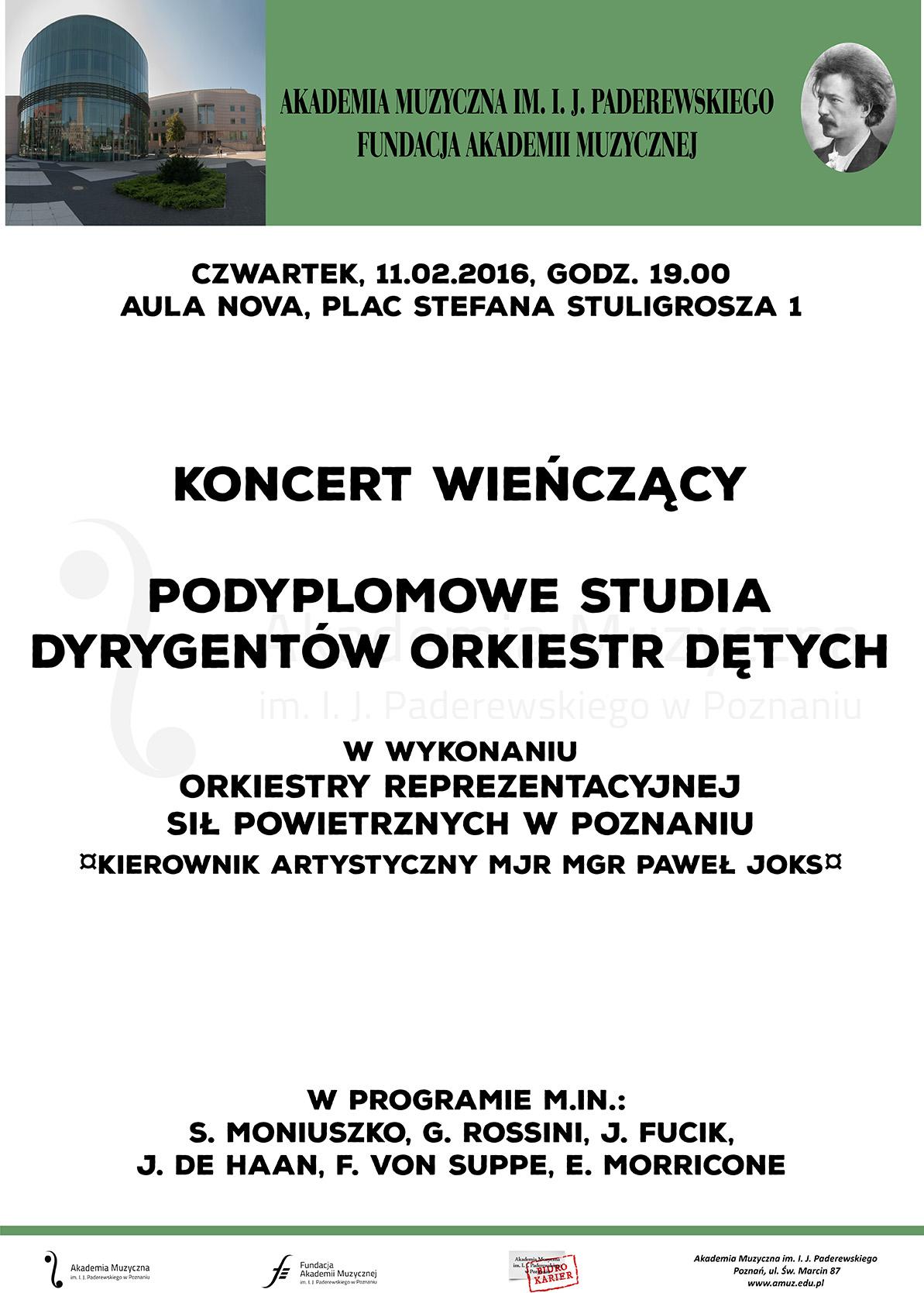 11.02.2016 orkiestra dęta szablon