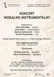11.05.2017 koncert wokalno-instrumentalny