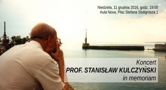 Profesor Stanisław Kulczyński in memoriam