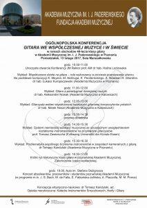 13.02.2017 konferencja gitarowa