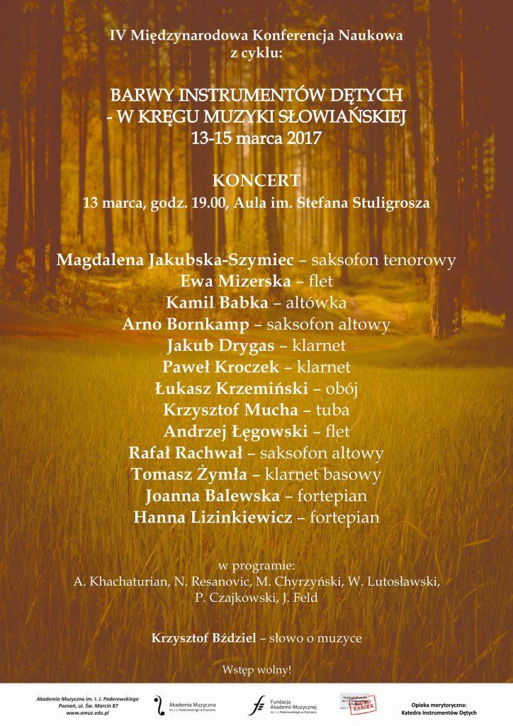 13.03.2017 koncert wkręgu muz. słowiańskiej