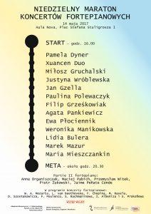 14.05.2017 maraton koncertów fortepianowych