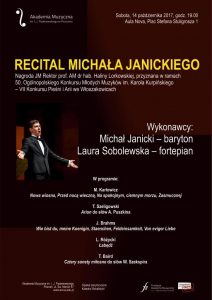 14.10.2017 recital M. Janickiego