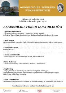 16.04.2016 forum doktorantów