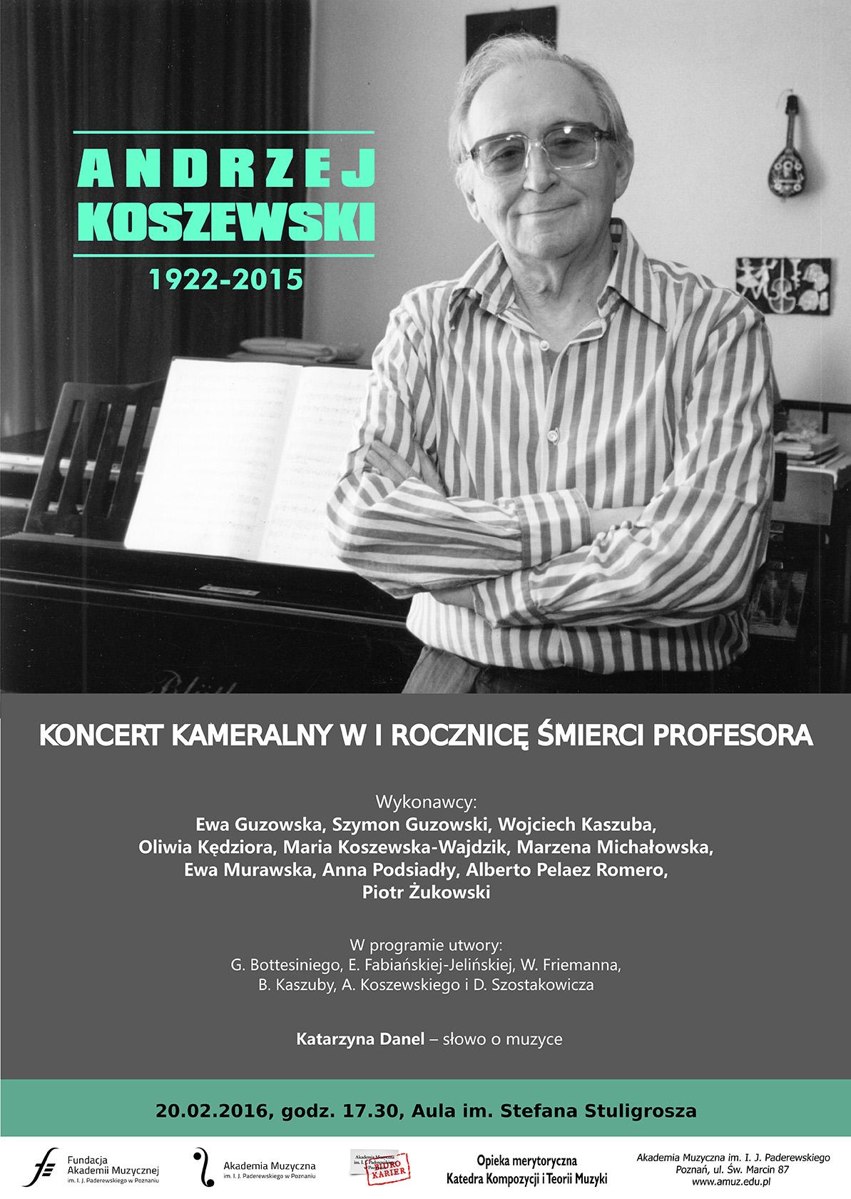 20.02.2016 koncert I rocznica śmierci prof. Koszewskiego