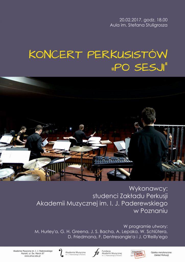 20.02.2017 koncert Zakładu Perkusji