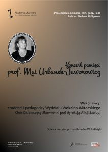 20.03.2017 prof. Urbanek in memoriam