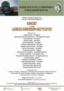 21.02.2017 koncert laureatów (prof.Kaszuba)