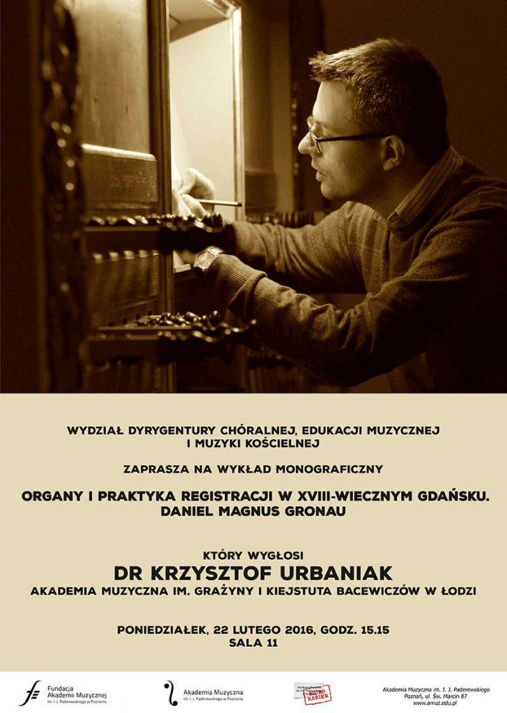 22.02.2016 wykład dr Urbaniak AM Łódź