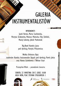 22.04.2017 GALERIA INSTRUMENTALISTÓW