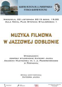 22.11.2015 muzyka filmowa w jazzowej odsłonie