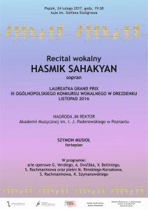 24.02.2017 recital wokalny H. Sahakyan