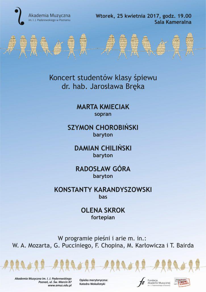 25.04.2017 koncert klasowy J. Bręk