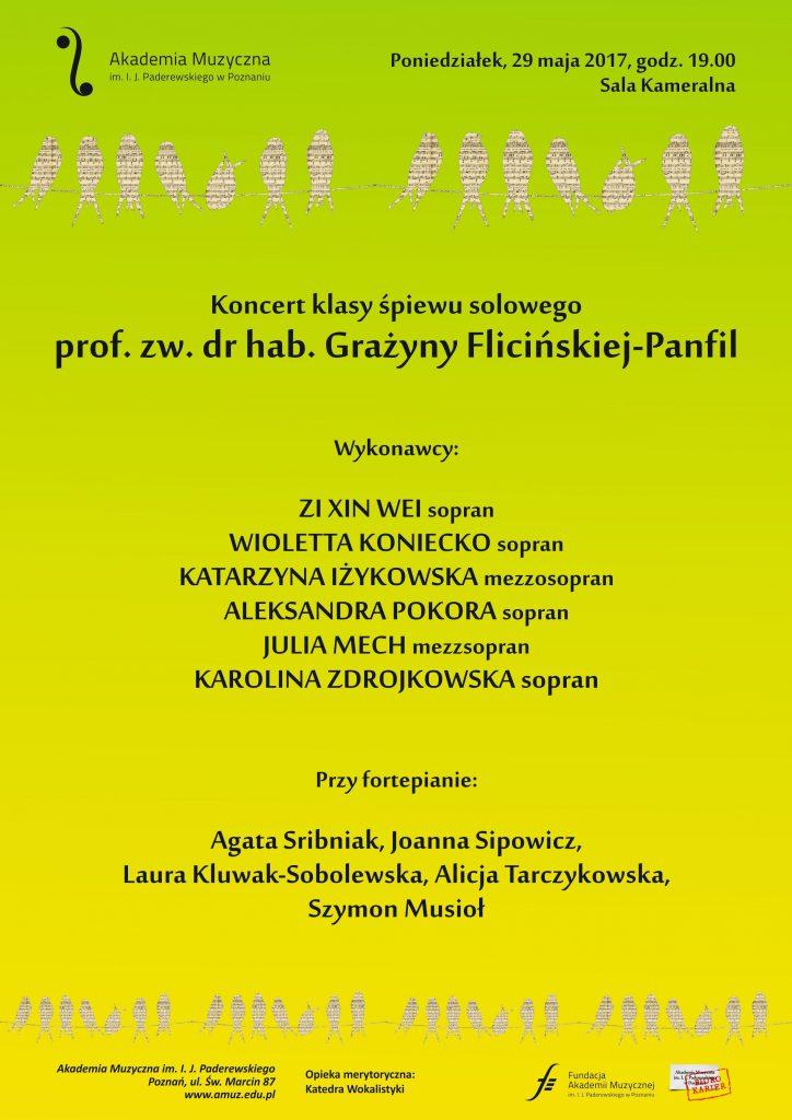 29.05.2017 koncert klasy śpiewu