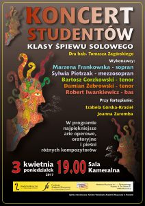 4.03.2017 koncert klasowy T.Zagórski