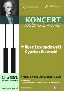 4.05.2016 koncert muzyki fortepianowej