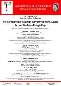 7-9.04.2016 konkurs dyrygentów chóralnych
