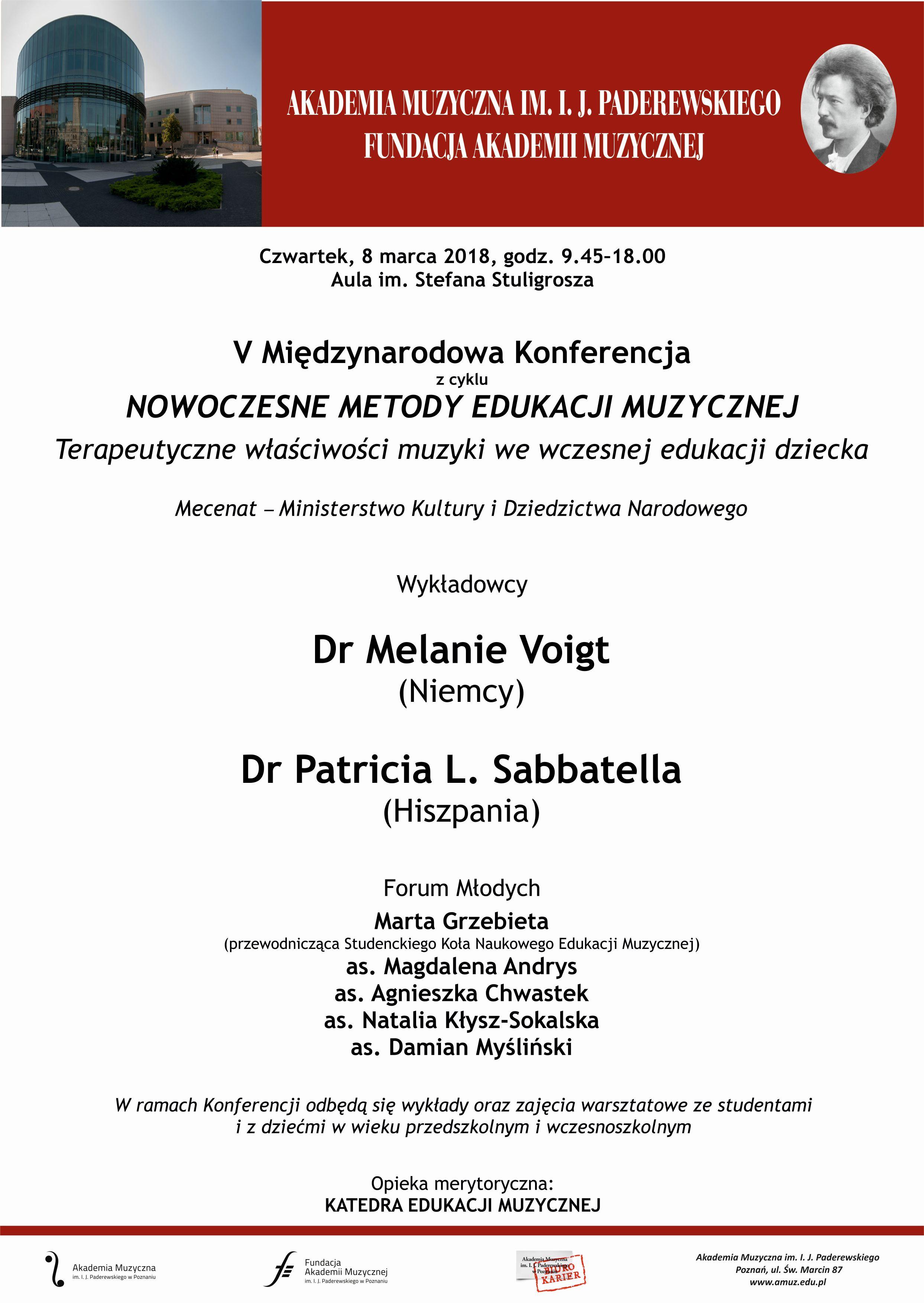 Międzynarodowa Konferencja Metodyczna dla nauczycieli muzyki