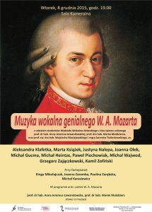 8.12.2015 muzyka wokalna Mozart