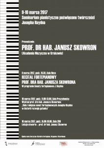 9-10.03.2017 seminarium pianistyczne prof. Skowron