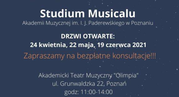 Studium Musicalu zaprasza naDrzwi Otwarte!
