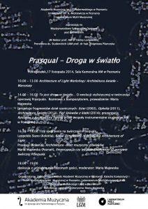Międzynarodowe Sympozjum operowe 17 listopada 2014r PLAKAT II