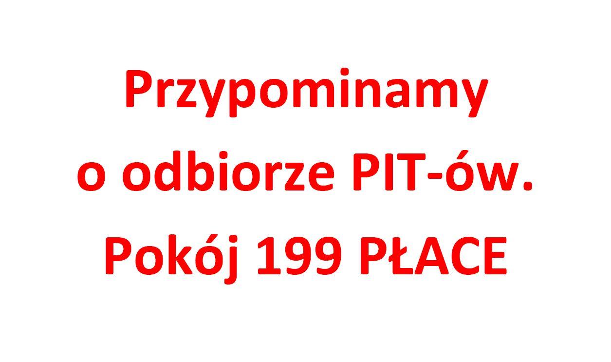 Odbiór PIT-ów