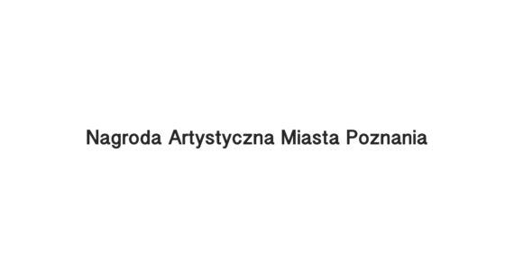 Nagroda Artystyczna Miasta Poznania