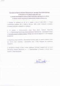 Zarządzenie Rektora nr19