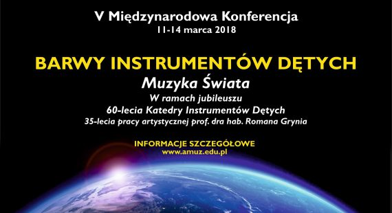 """V Międzynarodowa Konferencja """"Barwy Instrumentów Dętych"""" – """"Muzyka Świata"""""""