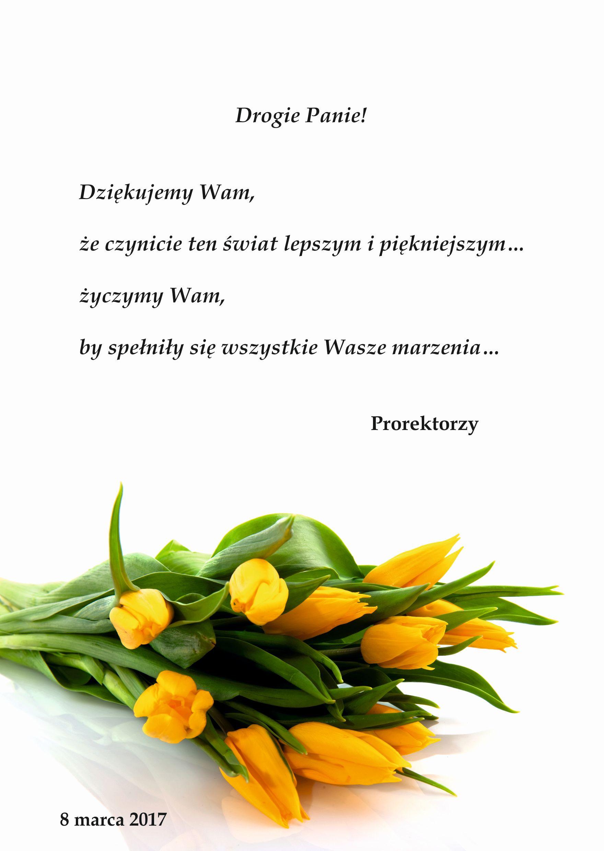 życzenia Na Dzień Kobiet Akademia Muzyczna Im Ignacego