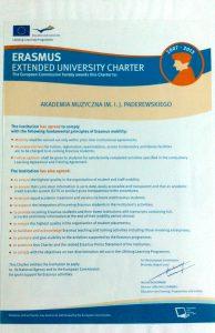 Erasmus Extended University Charter