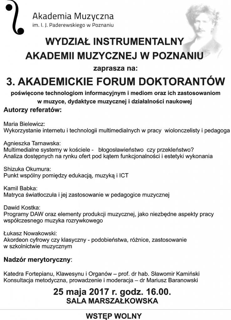 forum akademickie doktorantów plakat