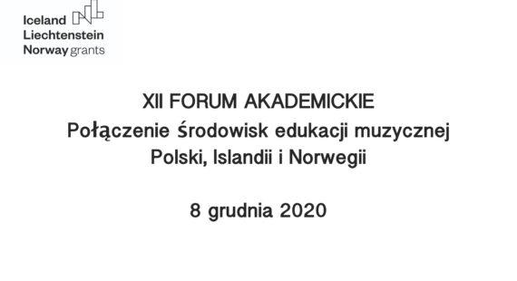 XII Forum Akademickie– ONLINE