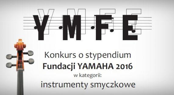 Konkurs ostypendium Fundacji Yamaha 2016 rozstrzygnięty!